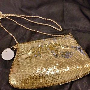 Evening Bag Gold Metal Beads Crossbody/Clutch